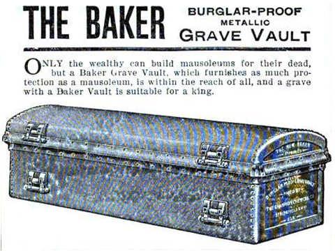 Burglar-Proof Metallic Grave Vault