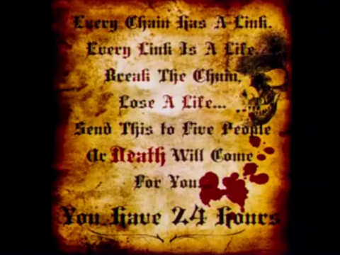 Scary Chain Letters | Scary Website