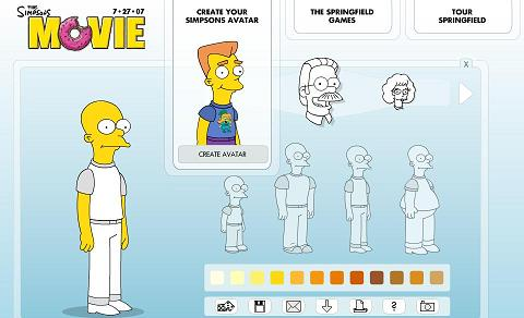 Create A Simpsons Character online