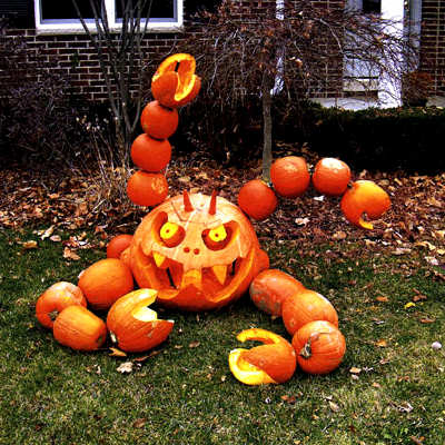 Scary pumpkins scary website - Deco citrouille halloween ...