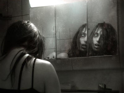 Wall mirrors scary website for Haunted bathroom ideas