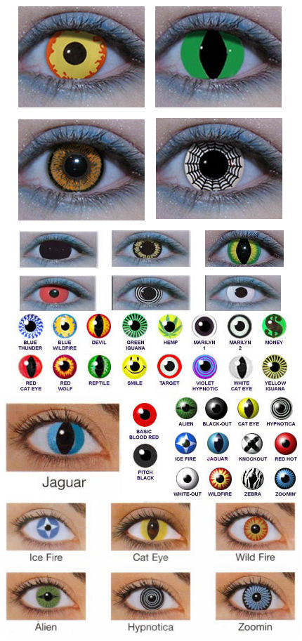 Crazy Halloween Contacts crazy contact lenses crazy colored contact lenses Crazy Contact Lenses For Halloween